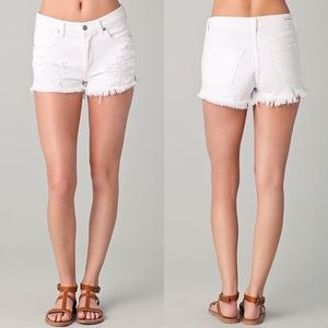 CoH Chloe high waist cut off distressed shorts 27